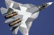 В Сирии попали на видео два новейших истребителя Су-57