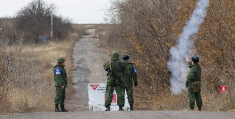Российских военных заметили на границе с Донбассом