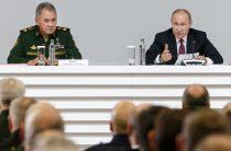 «Ваш приказ выполнен»: Шойгу доложил Путину итоги сирийской кампании