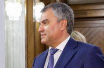 Володин: санкции — признание эффективности российского бизнеса