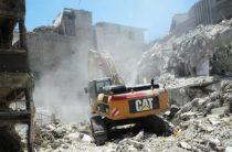 Провокаторы в Сирии зацементировали воронку от химической бомбы