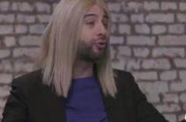 Ургант в образе бородатой Собчак назвал себя «кандидатом-противнем»