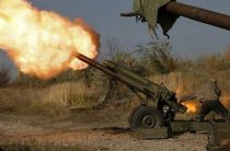 Артиллерийский удар ополченцев по штабу «Правого сектора» попал на видео