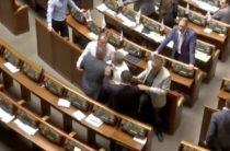 Депутаты Рады устроили потасовку на глазах телезрителей