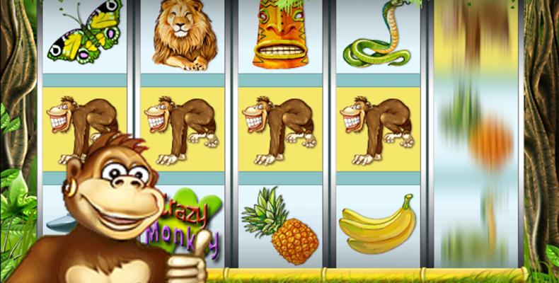 Игровой автомат «Crazy Monkey» – два в одном: азарт и драйв